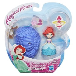 Papusa Magical Movers - Mini printesa cu suport rotativ - Ariel